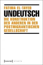 In orangener Schrift auf weißem Hintergrund stehen Name der Autorin und Untertitel, dazwischen der Titel hervorgehoben in schwarz; schwarzer Strich schließt grafischen Block ab.