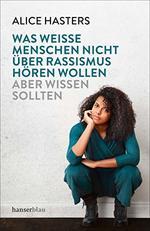 Buchcover mit Foto der Autorin, die hockend mit aufgestütztem Kopf den Betrachter nachdenklich anschaut. Darüber in Großbuchstaben Titel und Untertitel.