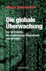 Der Hintergrund des Buchcovers ist schwarz und es sind grünliche Datensätze und Codes darauf abgebildet. Auf der linken Seite scheint Edward Snowden's Gesicht zur Hälfte durch die Codes hindurch. Das Cover ist in der Mitte unterteilt und rechts deutet sich eine Spiegelung der linken Hälfte an