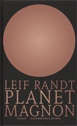 Schwarzer Hintergrund, davor ein altrosa Ball mit einer leichten Lichtreflektion zur der Mitte hin. Die Farbe ist nicht grell, sondern eher verblasst und wirkt matt Altrosa. Der Ball ist in den oberen 2/3 des Titelbildes und darunter steht der Name des Autors in einer Zeile und dann der Titel des Buches in zwei Zeilen - beides in demselben Rot wie der Ball oder Planet.