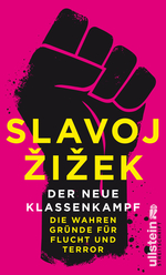 Buchcover mit großer schwarzer Faust im Schablonen-Stil auf pinkem einfarbigem Hintergrund. Autor in großen gelben Buchstaben im Vordergrund